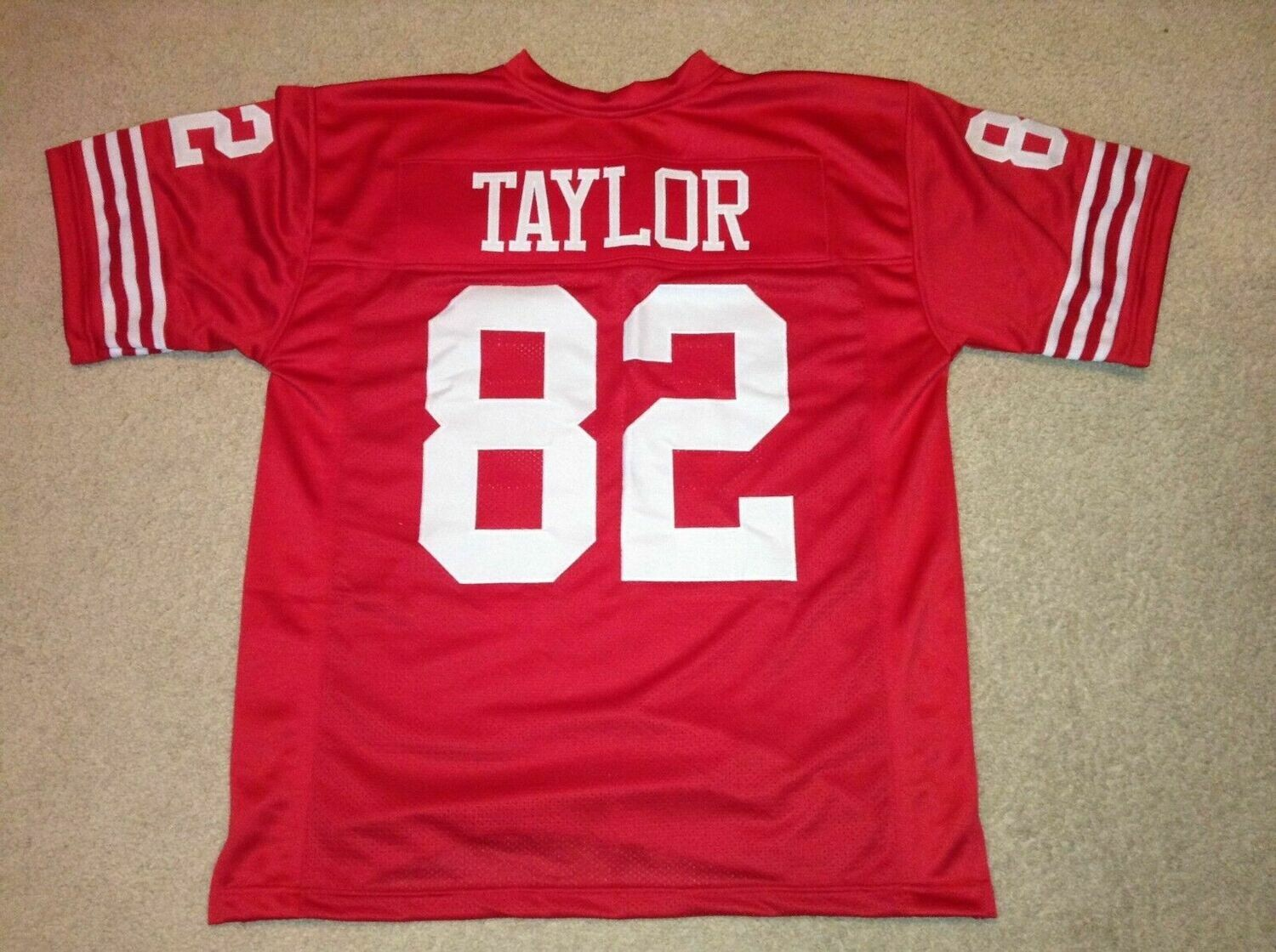 UNSIGNED CUSTOM Sewn Stitched John Taylor Red Jersey
