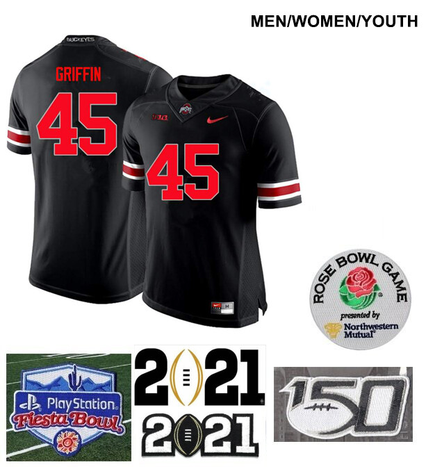 Ohio State Buckeyes #45 Archie Griffin Football Black Jersey