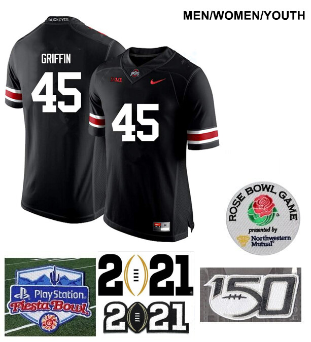 Ohio State Buckeyes #45 Archie Griffin Football Jersey Black