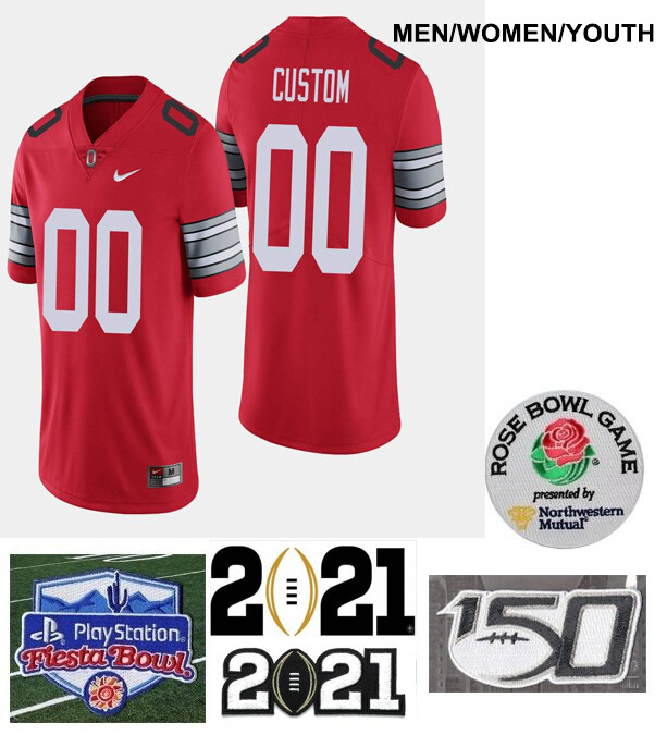 Ohio State Buckeyes Custom Name and Number College Football Jersey Red
