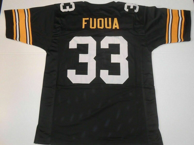 UNSIGNED CUSTOM Sewn Stitched John Fuqua Black Jersey