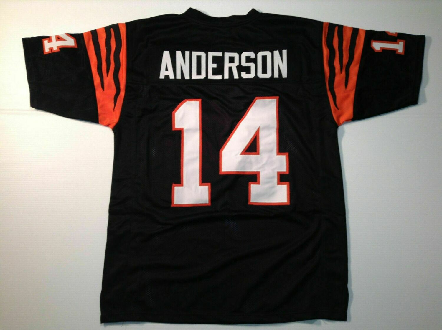 UNSIGNED CUSTOM Sewn Stitched Ken Anderson Black Jersey