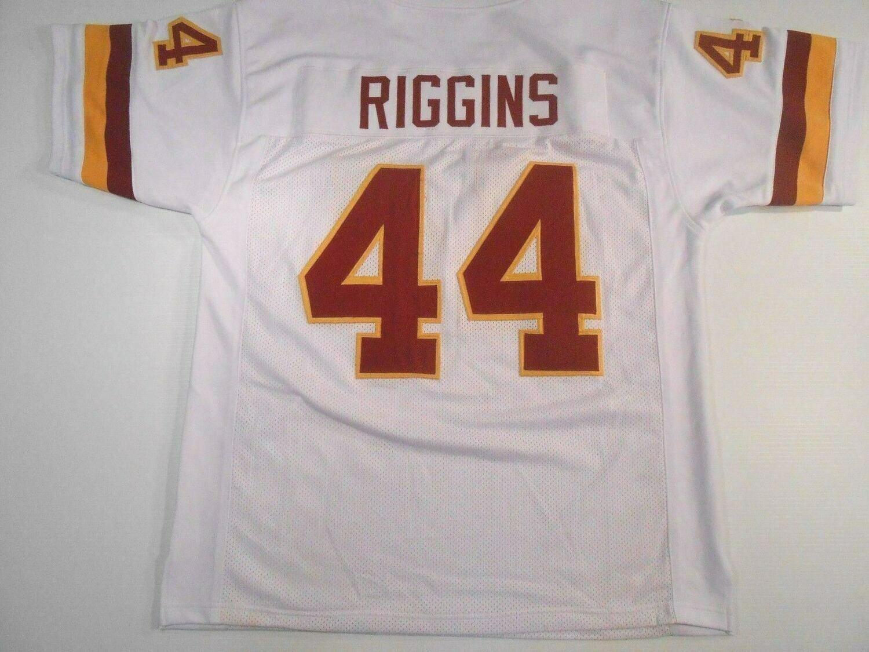 UNSIGNED CUSTOM Sewn Stitched John Riggins White Jersey