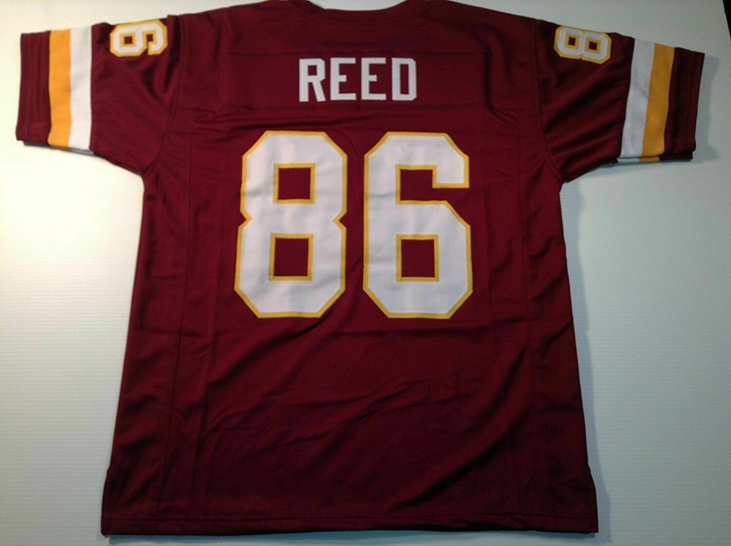 UNSIGNED CUSTOM Sewn Stitched Jordan Reed Burgundy Jersey