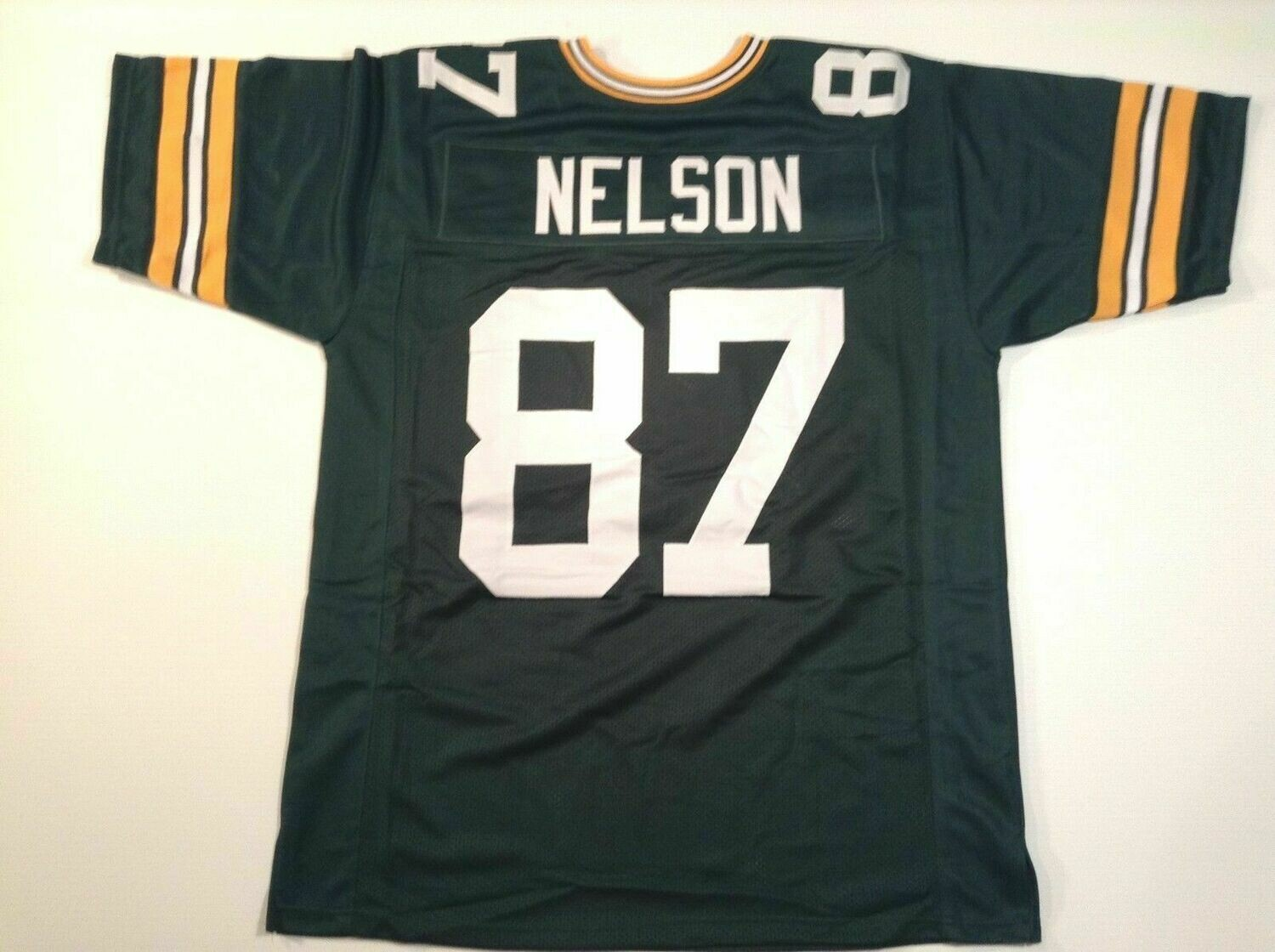 UNSIGNED CUSTOM Sewn Stitched Jordy Nelson Green Jersey