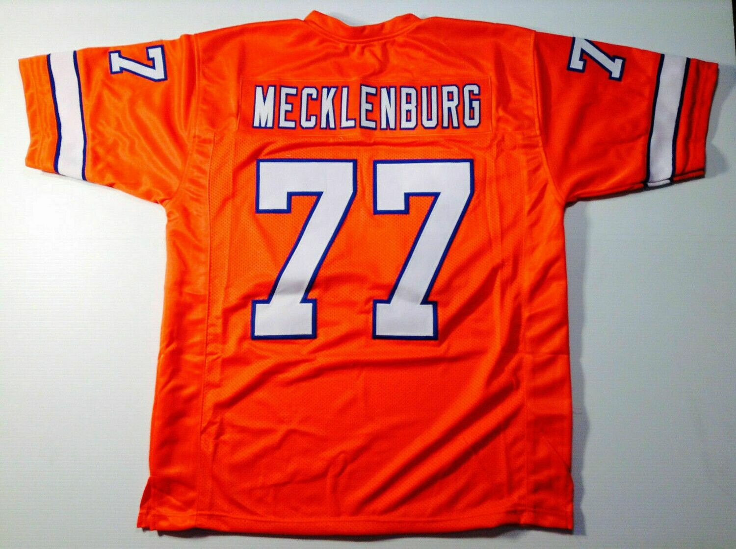 UNSIGNED CUSTOM Sewn Stitched Karl Mecklenburg Orange Jersey