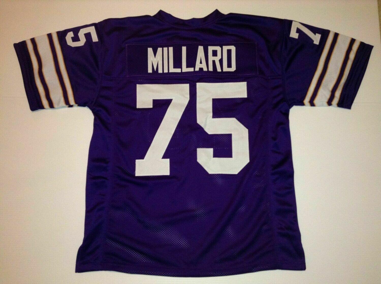 UNSIGNED CUSTOM Sewn Stitched Keith Millard Purple Jersey
