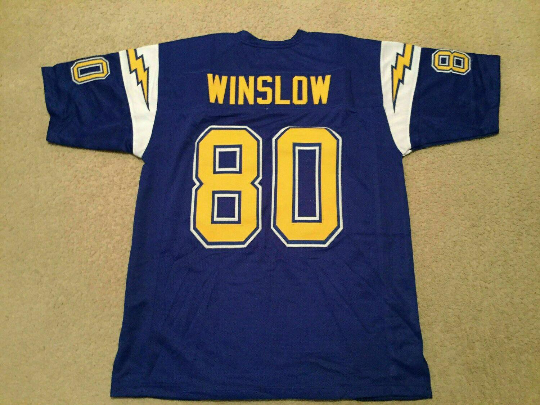 UNSIGNED CUSTOM Sewn Stitched Kellen Winslow Blue Jersey
