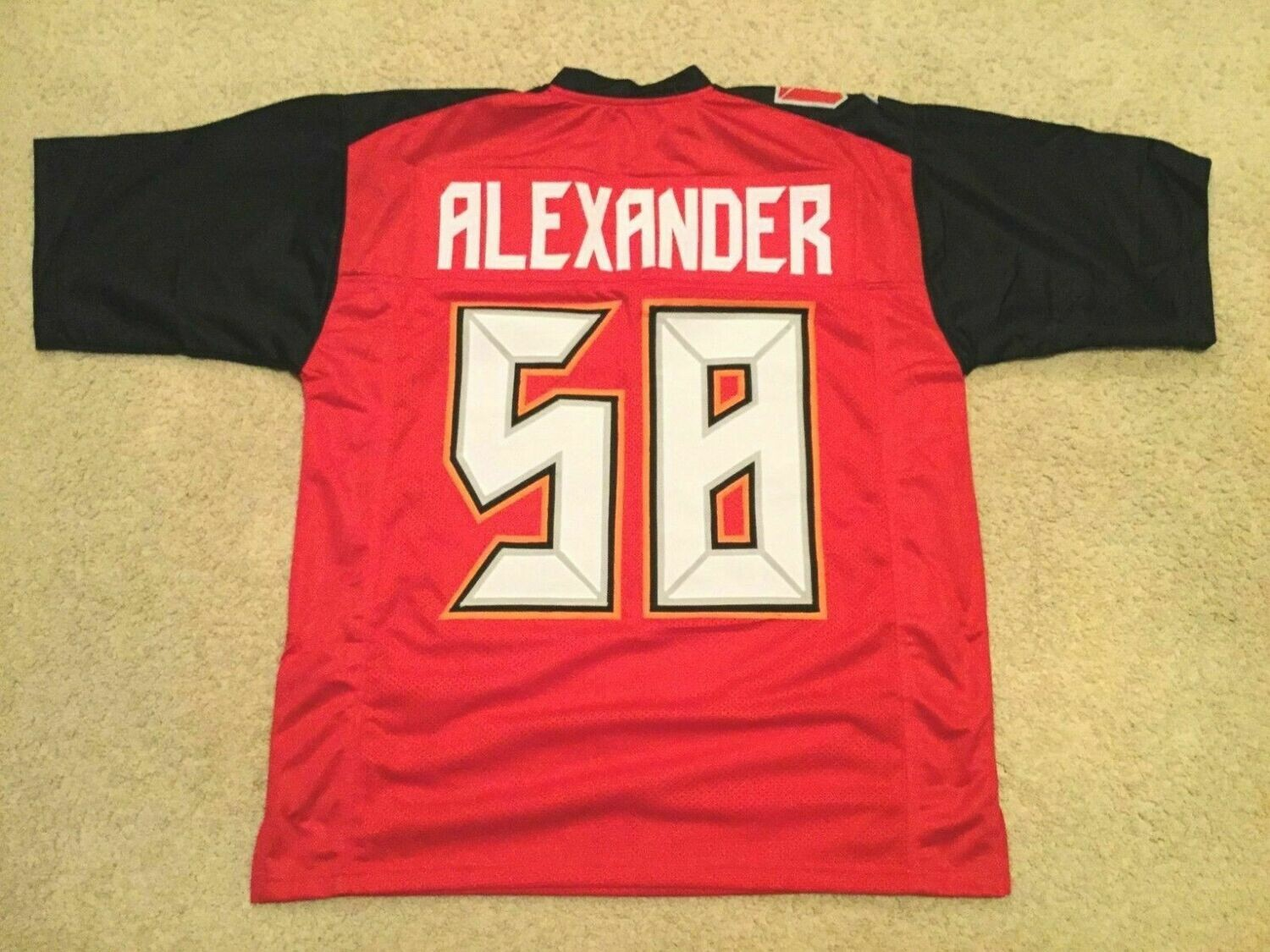 UNSIGNED CUSTOM Sewn Stitched Kwon Alexander Red Jersey