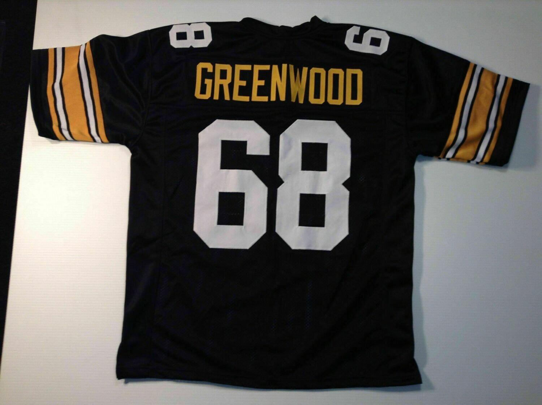 UNSIGNED CUSTOM Sewn Stitched L.C. Greenwood Black Jersey