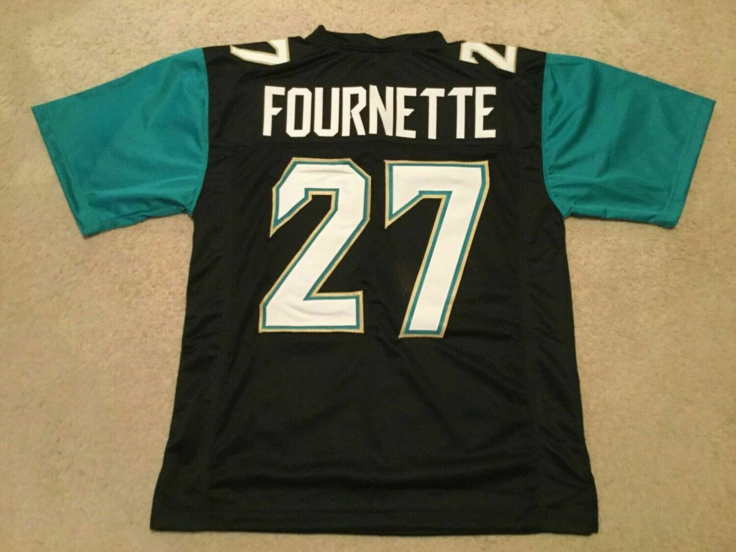 UNSIGNED CUSTOM Sewn Stitched Leonard Fournette Black Jersey