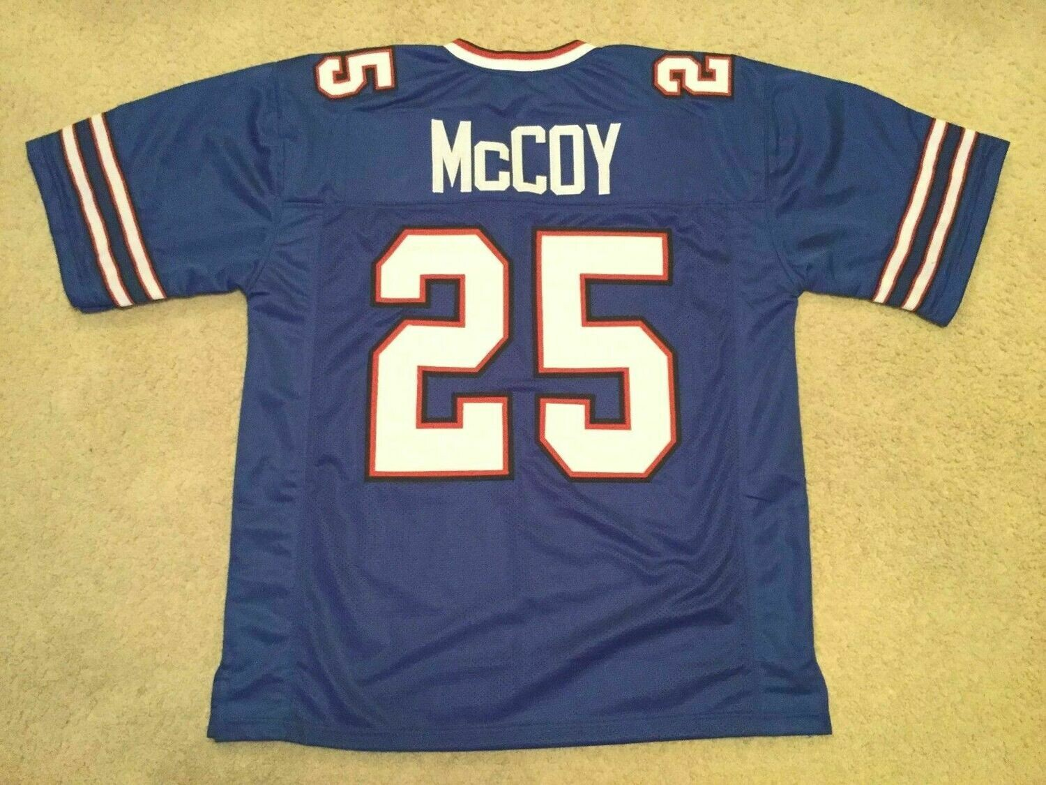 UNSIGNED CUSTOM Sewn Stitched LeSean McCoy Blue Jersey
