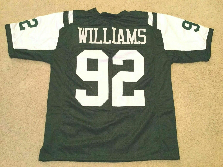 UNSIGNED CUSTOM Sewn Stitched Leonard Williams Green Jersey