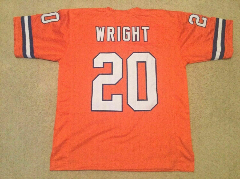 UNSIGNED CUSTOM Sewn Stitched Louis Wright Orange Jersey