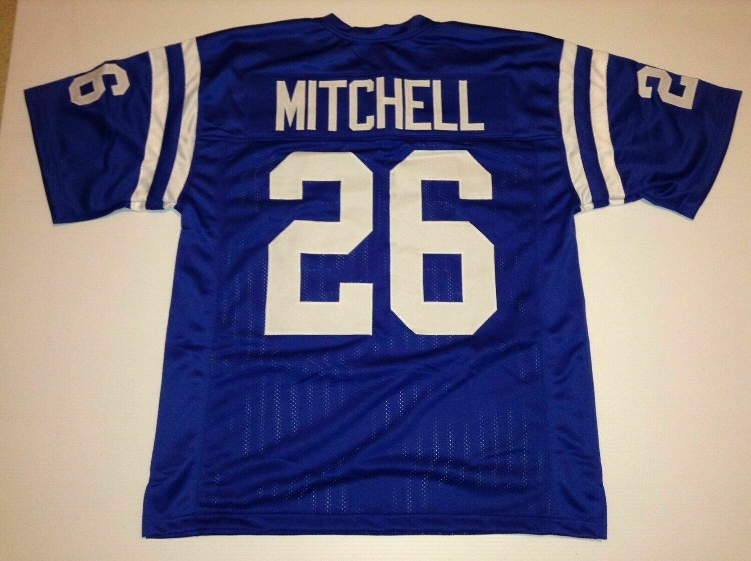UNSIGNED CUSTOM Sewn Stitched Lydell Mitchell Blue Jersey