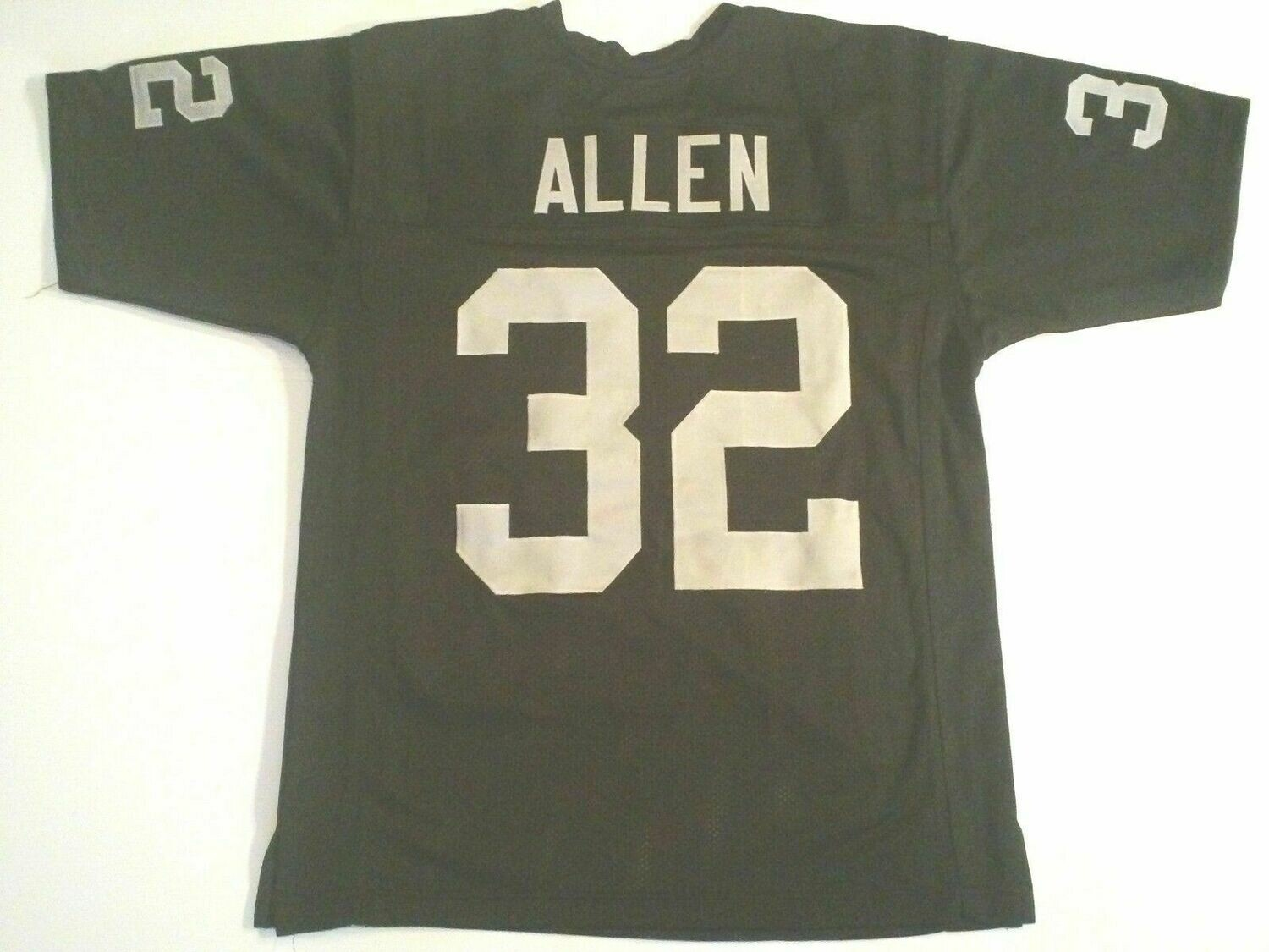 UNSIGNED CUSTOM Sewn Stitched Marcus Allen Black Jersey