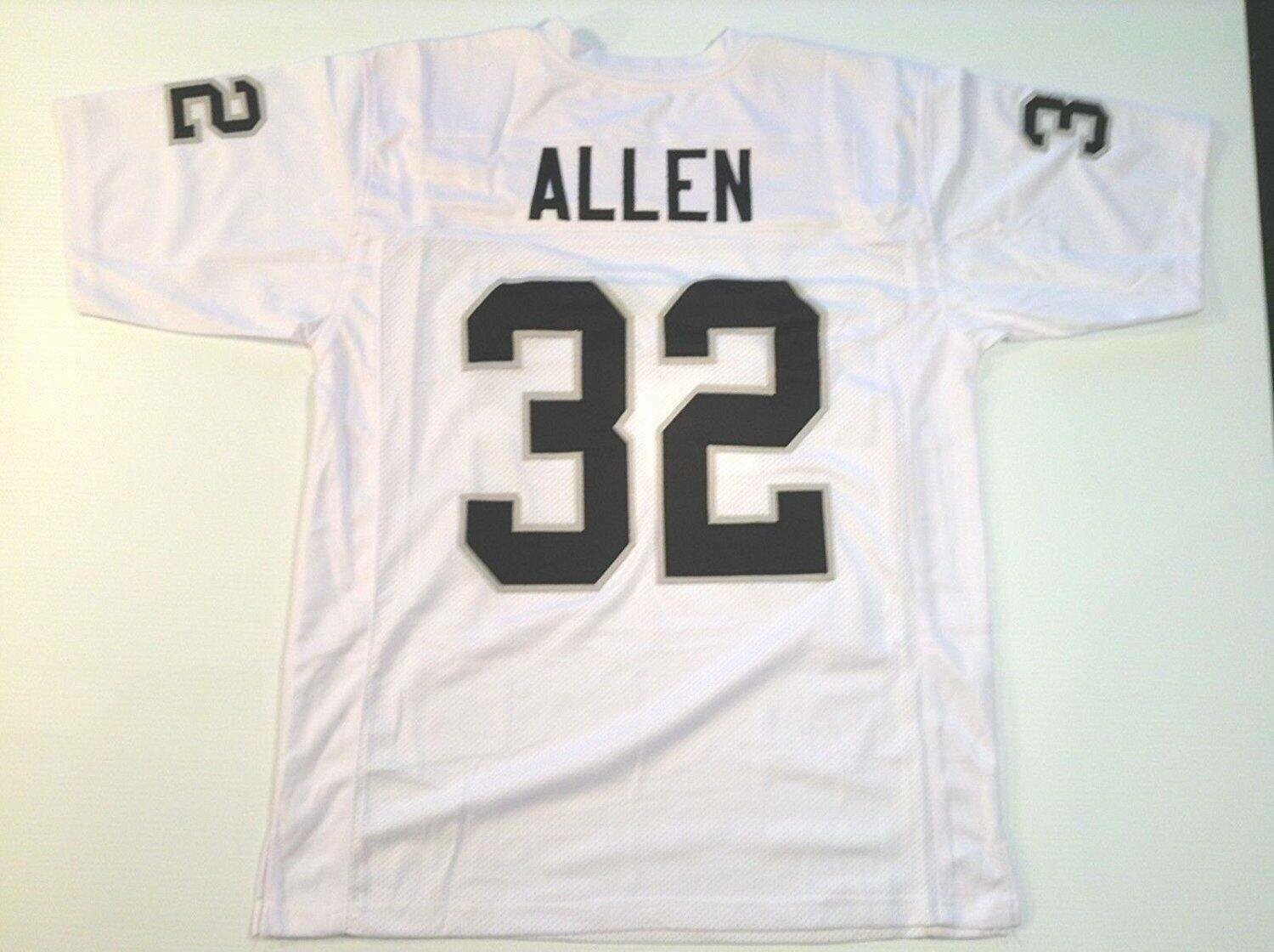 UNSIGNED CUSTOM Sewn Stitched Marcus Allen White Jersey
