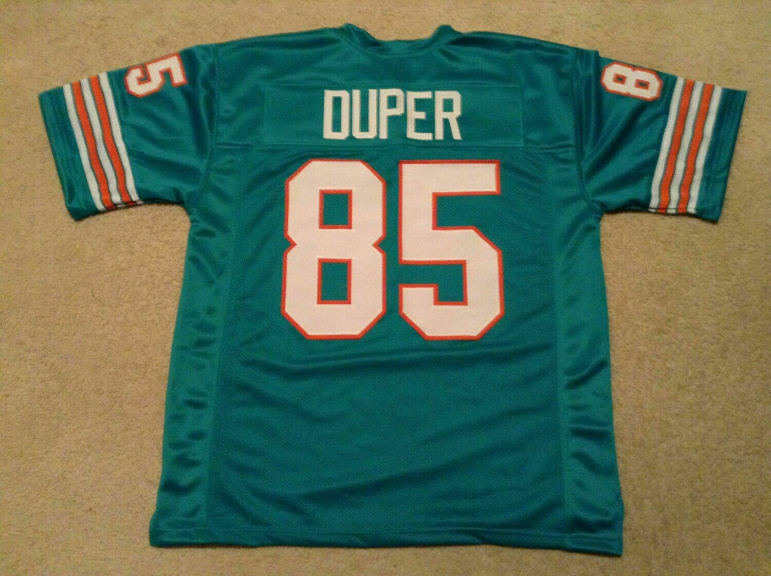 UNSIGNED CUSTOM Sewn Stitched Mark Duper Teal Jersey
