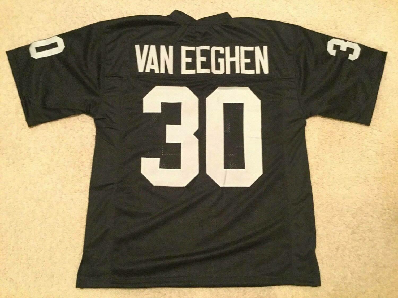 UNSIGNED CUSTOM Sewn Stitched Mark Van Eeghen Black Jersey