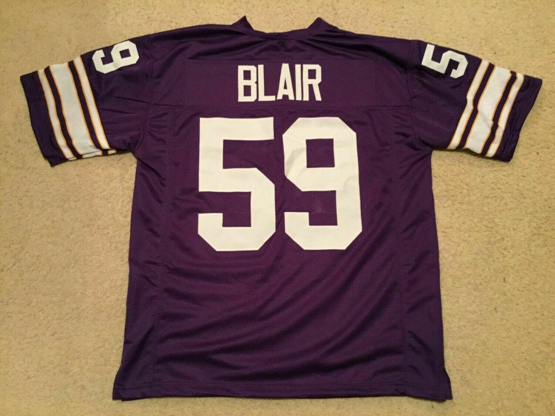 UNSIGNED CUSTOM Sewn Stitched Matt Blair Purple Jersey