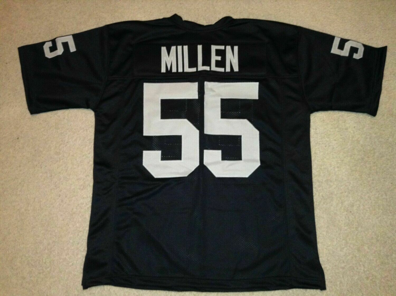 UNSIGNED CUSTOM Sewn Stitched Matt Millen Black Jersey