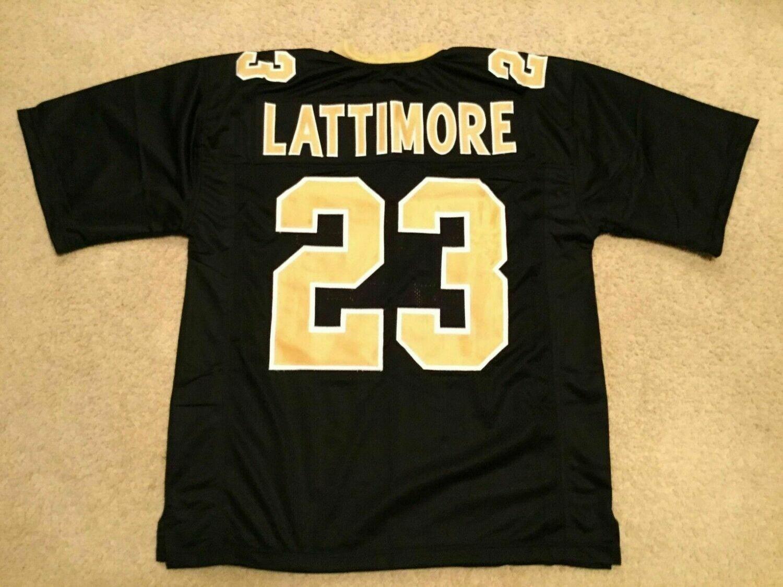 UNSIGNED CUSTOM Sewn Stitched Marshon Lattimore Black Jersey
