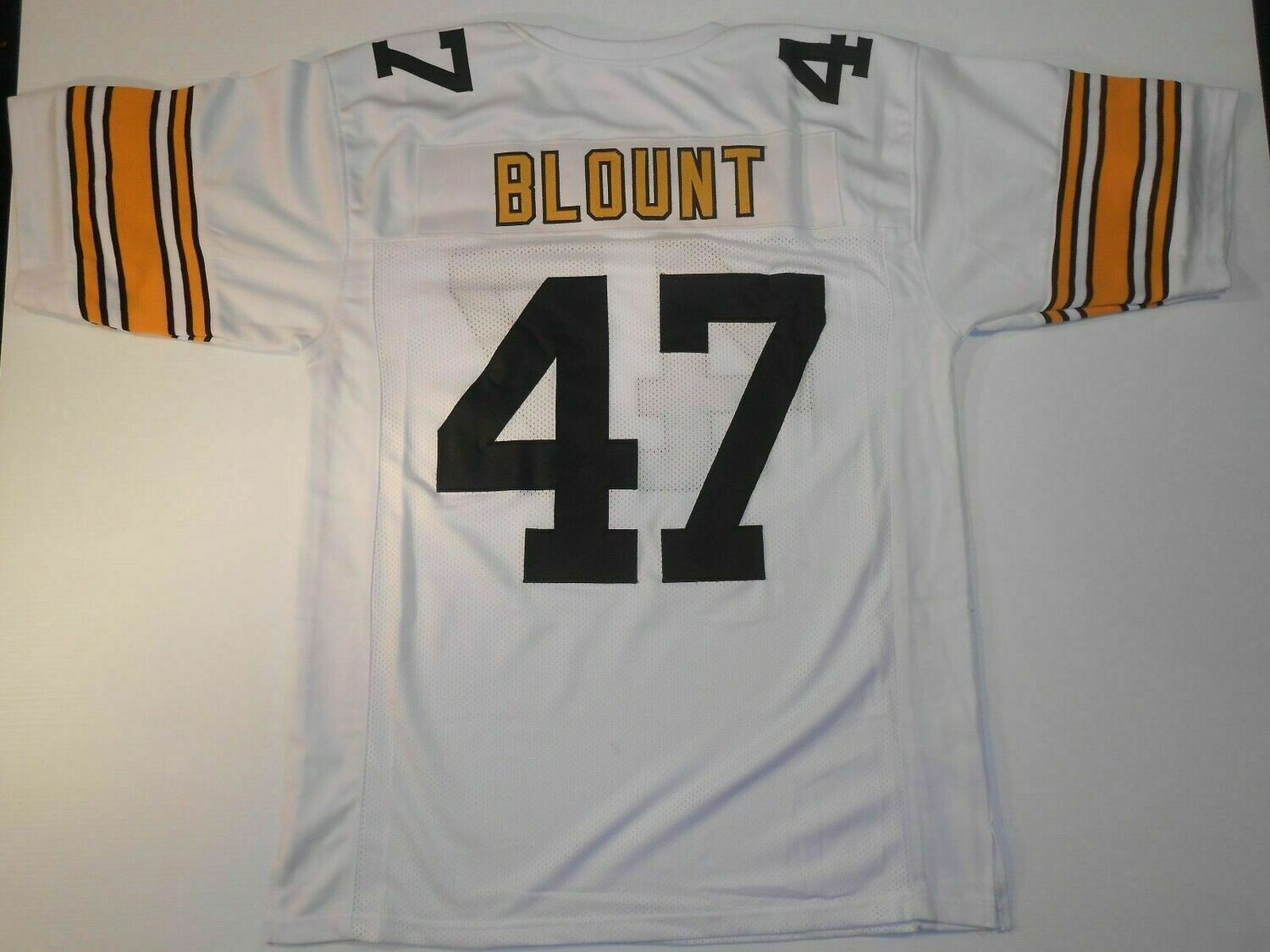 UNSIGNED CUSTOM Sewn Stitched Mel Blount White Jersey