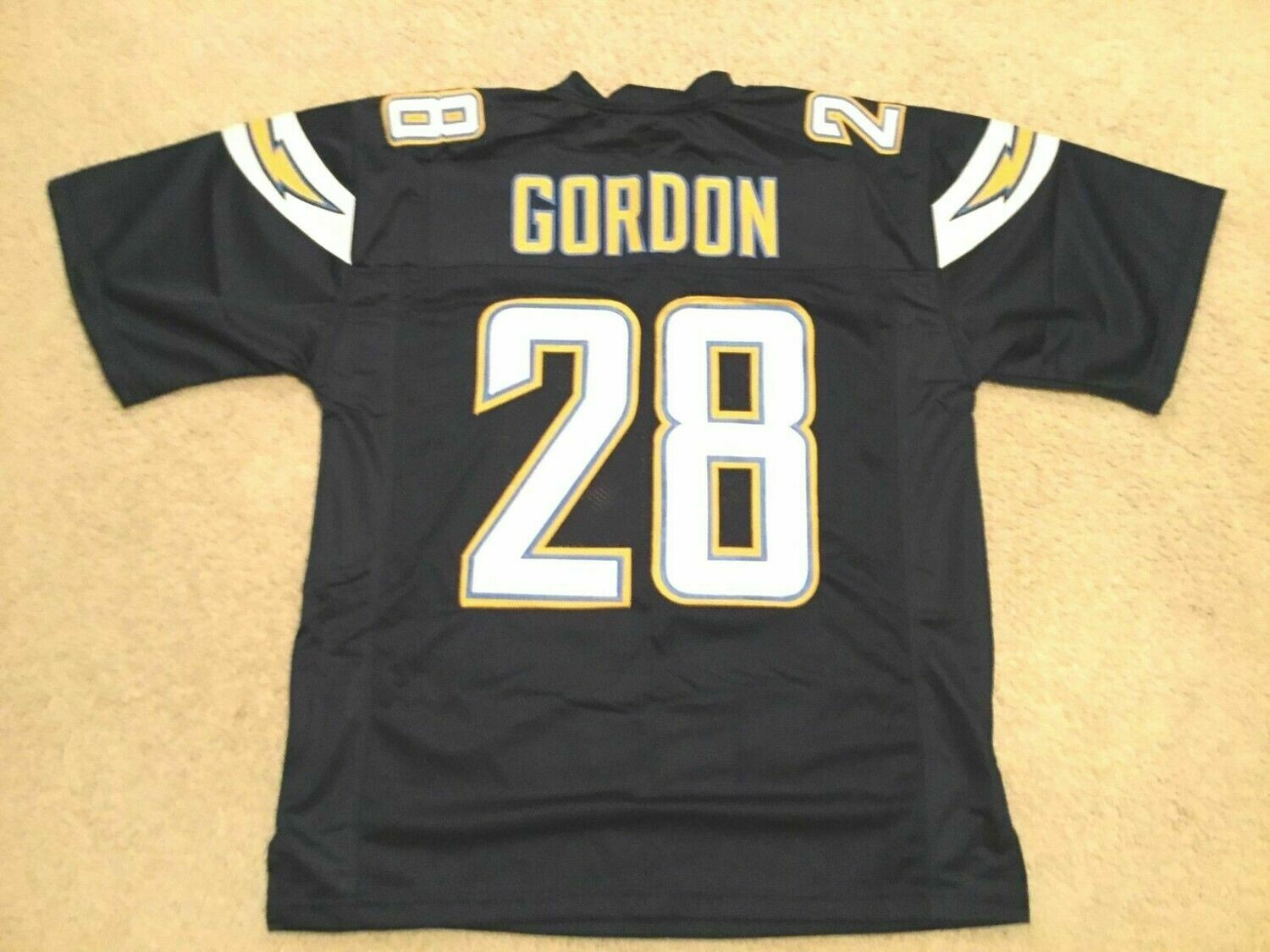 UNSIGNED CUSTOM Sewn Stitched Melvin Gordon Blue Jersey