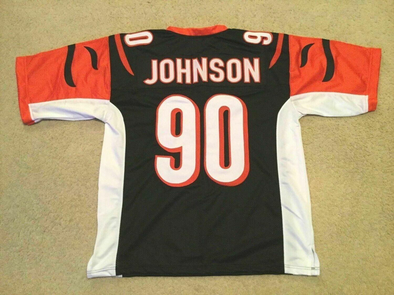 UNSIGNED CUSTOM Sewn Stitched Michael Johnson Black Jersey