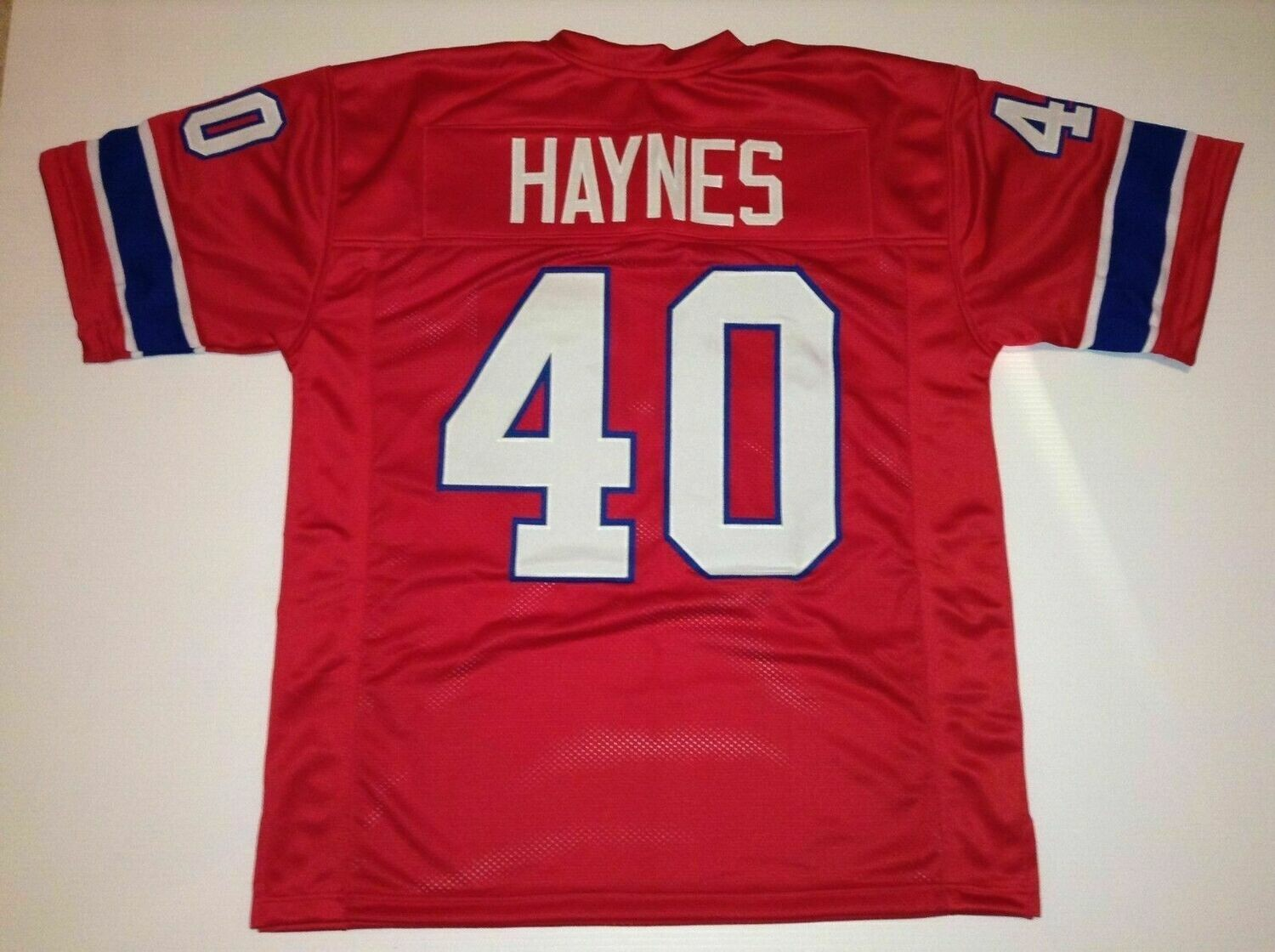 UNSIGNED CUSTOM Sewn Stitched Mike Haynes Red Jersey