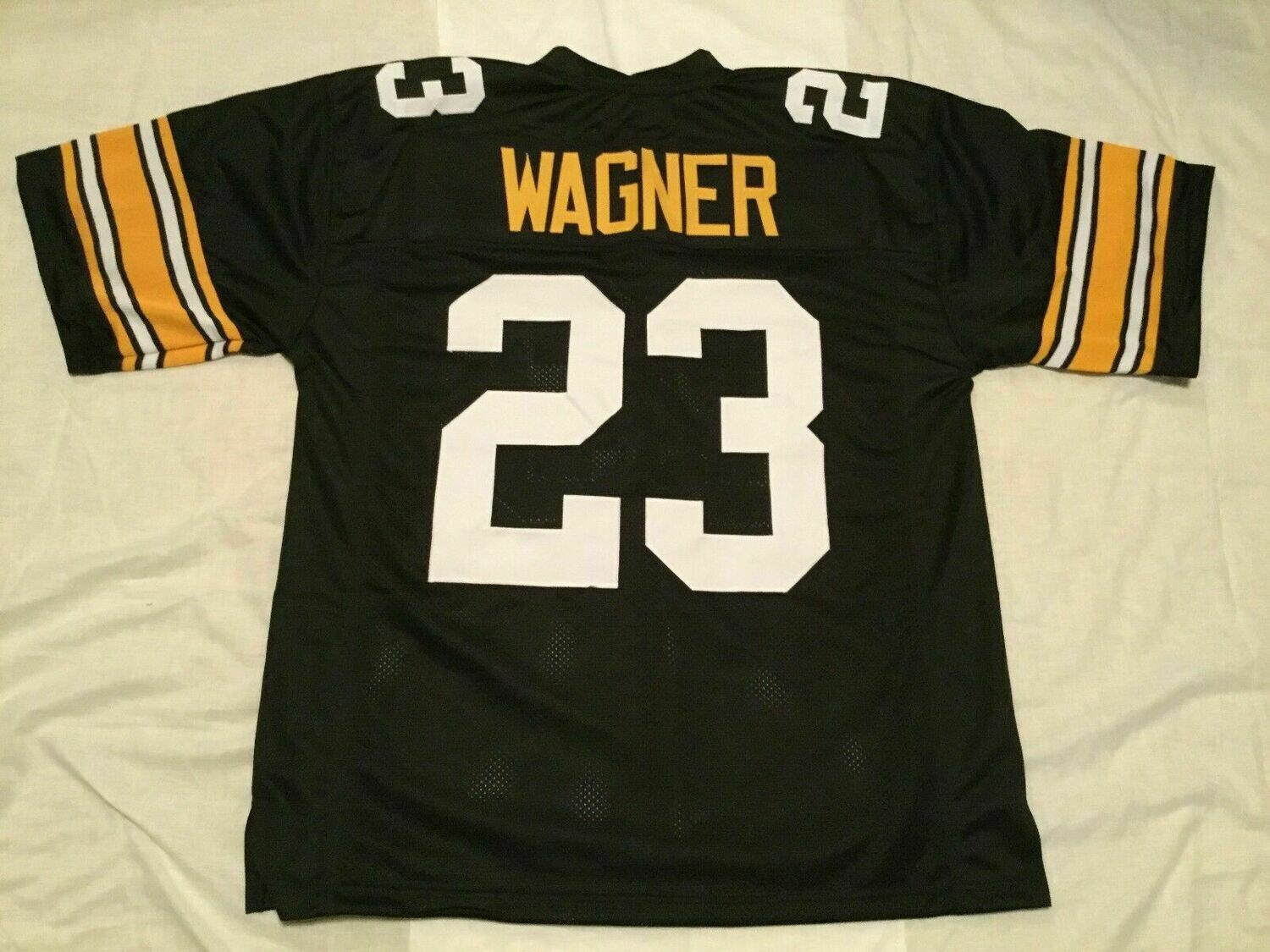 UNSIGNED CUSTOM Sewn Stitched Mike Wagner Black Jersey