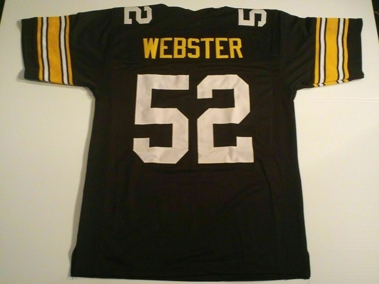 UNSIGNED CUSTOM Sewn Stitched Mike Webster Black Jersey