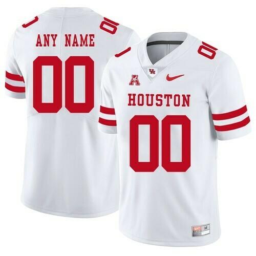 Houston Cougars Custom Jersey White College Football