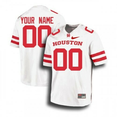 Houston Cougars Custom Jersey White College Football Jerseys