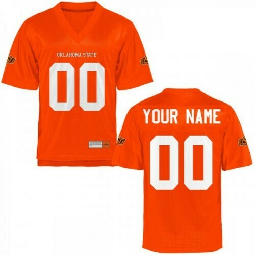 Oklahoma State Cowboys Custom Name Number Football Jersey Orange