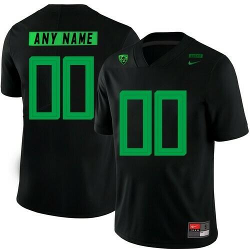 Oregon Ducks Custom Jersey College Football Black
