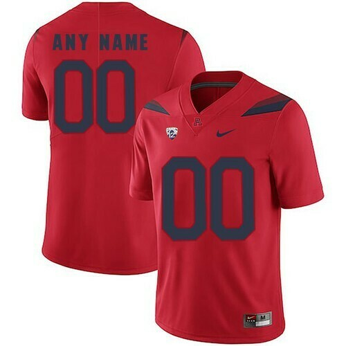 Arizona Wildcats Custom Name and Number College Football Red