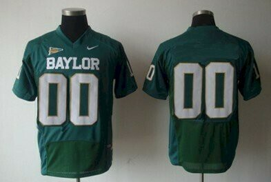 Baylor Bears Custom Name and Number Colleage Football Jersey Green