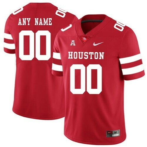 Houston Cougars Custom Jersey Red College Football