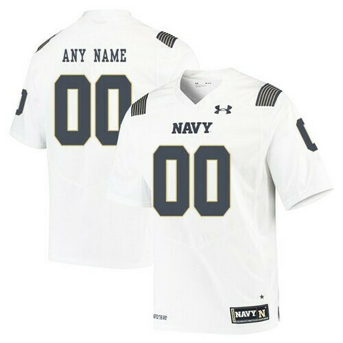 Navy Midshipmen Custom Jersey White College Football