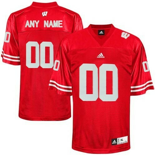 Wisconsin Badgers Custom Name Number Jersey Red College Football