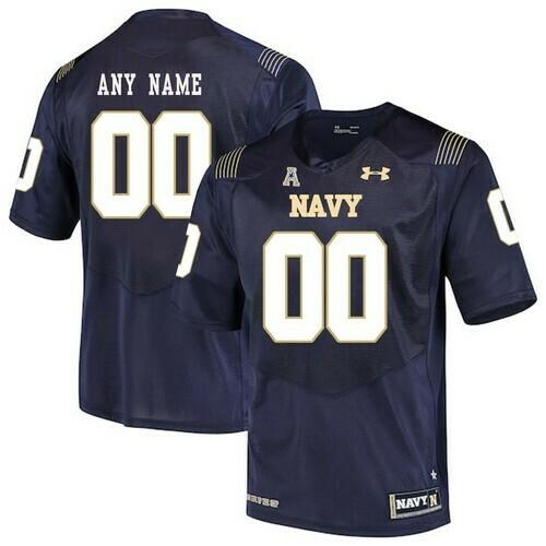Navy Midshipmen Custom Jersey Navy Blue College Football