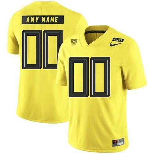 Oregon Ducks Custom Jersey College Football Yellow