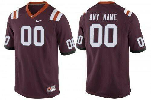 Virginia Tech Hokies Custom Name Number Jersey NCAA Red