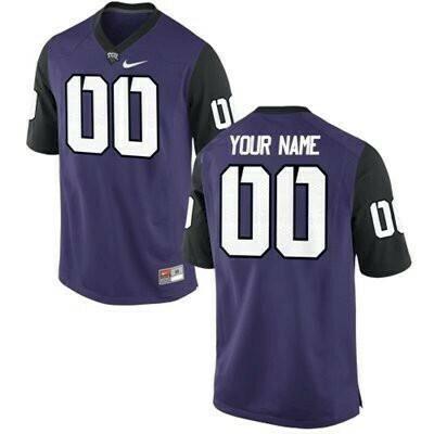 TCU Horned Frogs Custom Name Number Jersey NCAA Purple