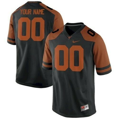 Texas Longhorns Custom Name Number College Football Jersey Black