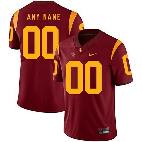 USC Trojans Custom Name Number Jersey Red College Football
