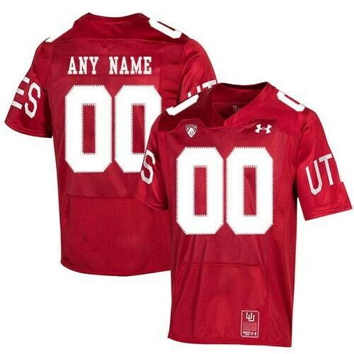 Utah Utes Custom Name Number Jersey Red College Football