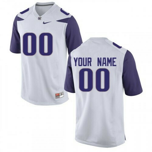 Washington Huskies Custom Name Number Jersey White College Football