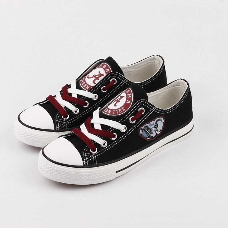 Alabama Crimson Tide NCAA College Canvas Shoes Sport Sneakers 1
